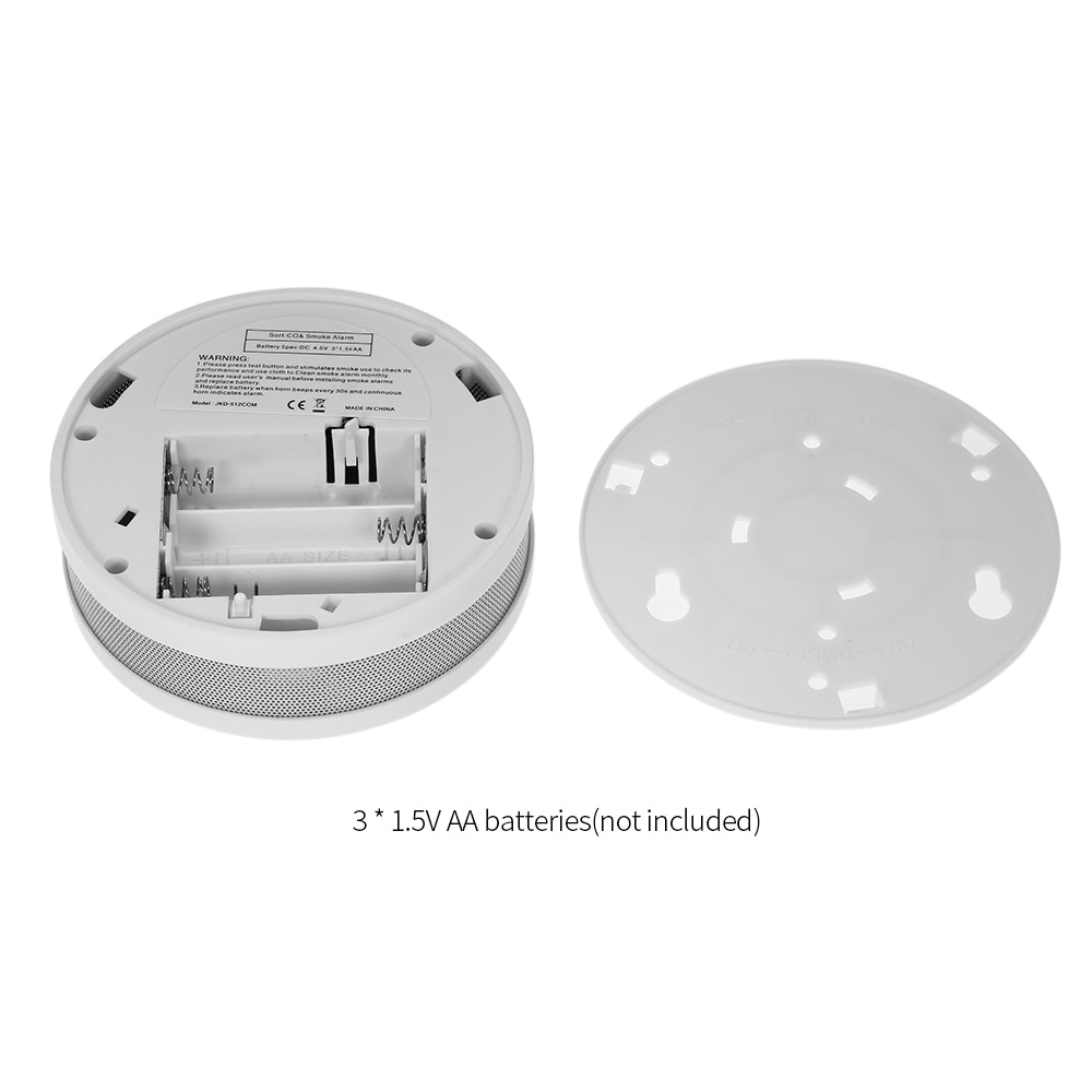 ESCAM 2 in 1 LCD Display Carbon Monoxide & Smoke Combo Detector Battery Operated CO Alarm with LED Light Flashing Sound Warning enlarge