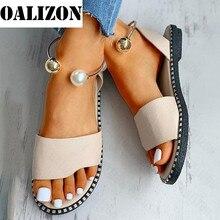 Sandali perlati con perline da donna nuovi estivi scarpe da donna sandali da donna sandali infradito sandali piatti con cinturino piatto scarpe