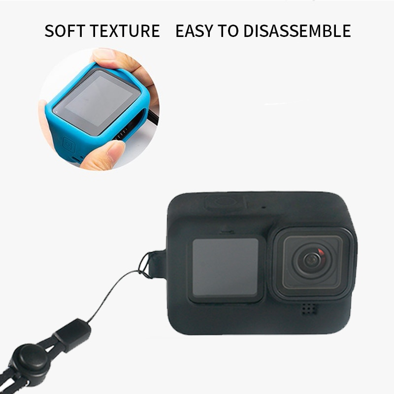 2020 New Sports Camera Silicone Case For GoPro Hero 9 Sports Camera Sports Action Video Cameras Accessories For GoPro 9