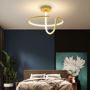 New Style Modern Minimalist Bedroom Led Chandelier Creative Circle Study Dining Room Lamp Creative Designer Lighting Decoration