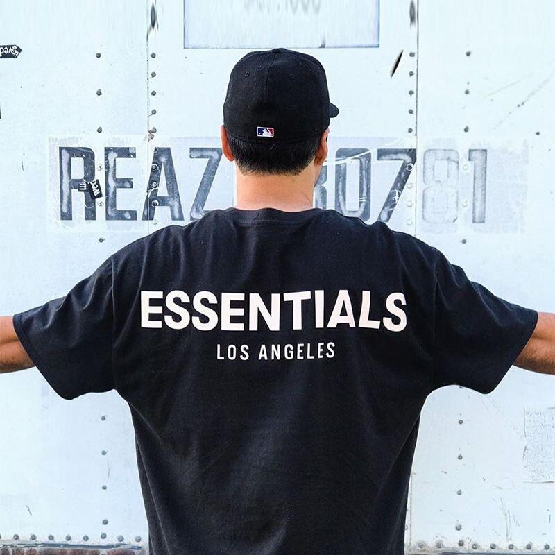 3M réfléchissant brouillard essentiels surdimensionné noir T-shirts 2020 été Kanye haute rue blanc à manches courtes Couple haut Manga Corta