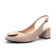 5cm Med talon chaussures concepteur femmes De luxe 2020 bureau femme mode talon carré Zapatos De Tacon Elegantes sandales chaussures H0041