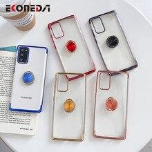 EKONEDA étui pour bague de doigt pour Samsung Galaxy A51 A50 A71 A70 S8 S9 S10 S20 Note 9 10 20 étui pour téléphone Ultra Plus plaqué