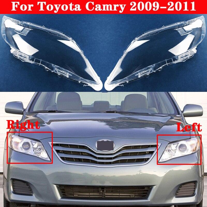 Cubierta de faro delantero de coche para Toyota Camry 2009-2011, cubierta de pantalla de lámpara de coche, cubierta de cristal, cubierta de lente de linterna para cabeza
