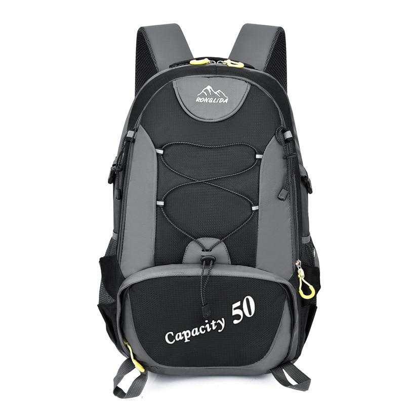 50l unissex mochilas viagem de volta pacote sacos esportes ao ar livre dos homens trekking náilon caminhadas escalada mochila acampamento para o sexo masculino
