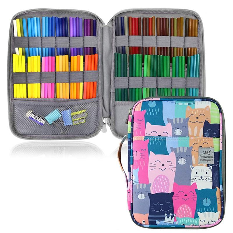 96 Holes School Pencil Case Cute Big Cartridge for Girls Boys Pencilcase Kawaii Large Storage Pen Bag Office Box Stationery Kit