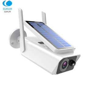1080P Outdoor Solar Camera WIFI 3.6mm Lens ICsee APP Two Ways Audio Wireless Video Surveillance Camera 2MP