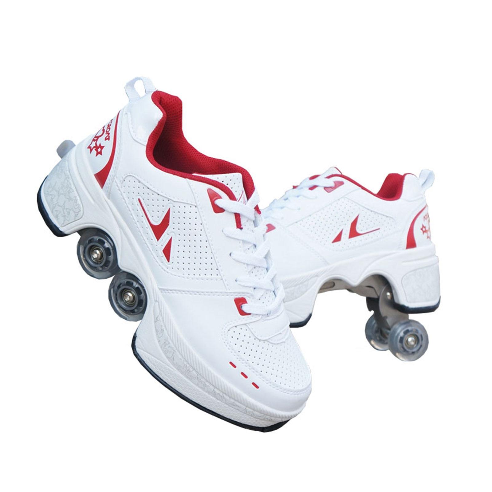 Deformation Shoes Adult Heely Walking Shoes Children's Students Roller Skates Blasting Shoes Skateboard Shoes Skating Size 31-43 enlarge