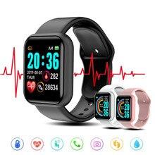 2020 Y68 Smart Watch Blood Pressure Monitor Women Men Kids Smart Clock D20 Waterproof Sport Smartwat
