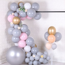 5/10/24 zoll Große Große Grau Ballons Runde Latex ballons Bogen Baby Dusche Wand Hintergrund Dekoration