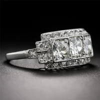 2 carat white diamond ring silver s925 sterling bague bizuteria for women anillos silver 925 jewelry fine 2 carat ring for women
