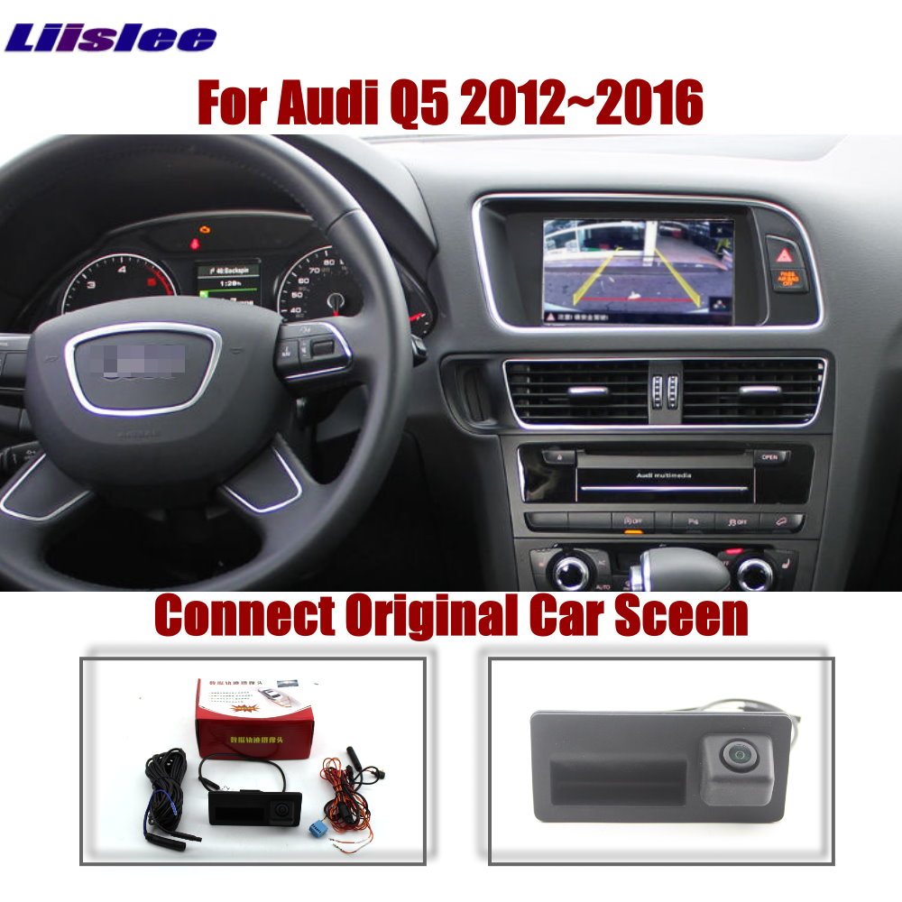 AUTO CAM For Audi Q5 2012 2013 2014 2015 2016 Original Screen Upgrade Reverse Dynamic Trajectory Image Parking Rear Trunk Handle
