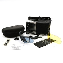 Spot Tactical Shooting Glasses Three-piece Suit Military Glasses CS Game Goggles Hinking Camping Sun