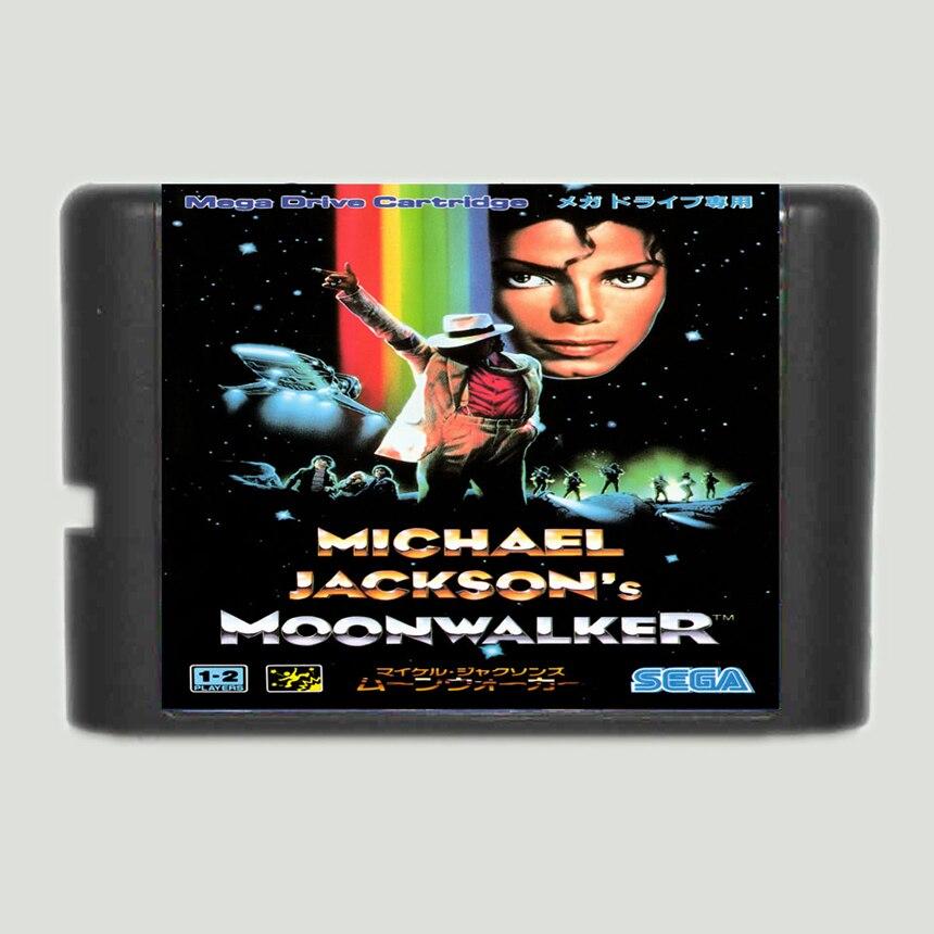 Juego de cartas de 16 bits Moonwalker de Michael Jackson para Sega Mega Drive y Sega Genesis