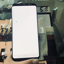 LCD Super Amoled 100% para Samsung Galaxy S8 G950F G950U G950FD, pantalla táctil LCD, digitalizador con píxel LCD muerto