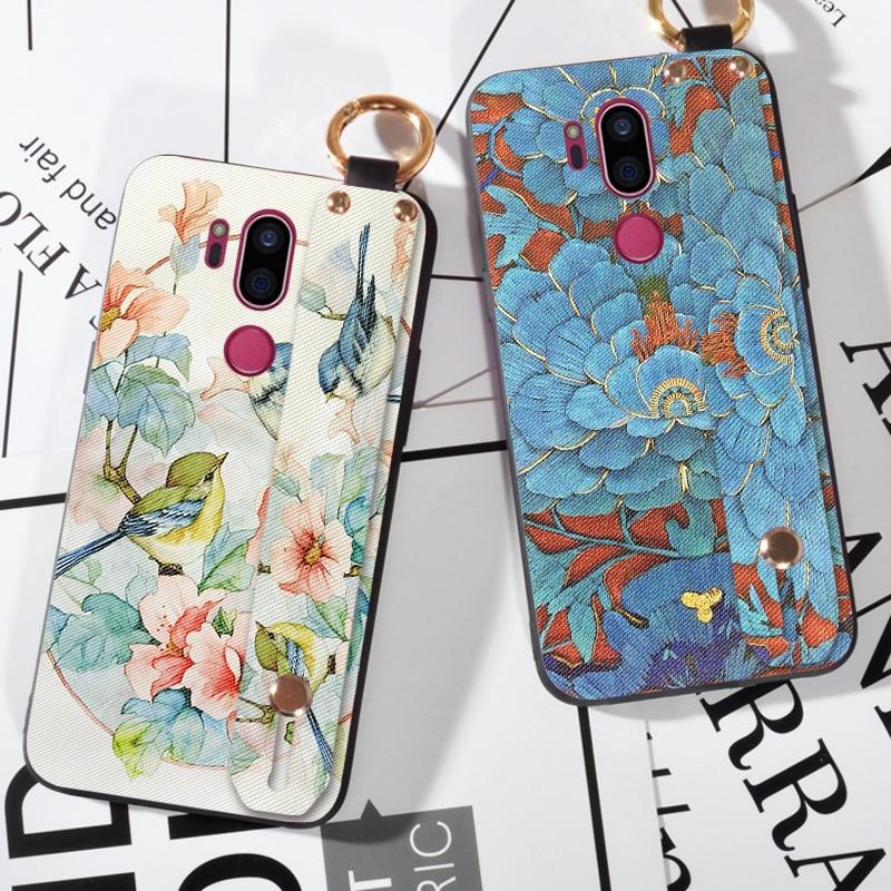 3D Relief Floral Vögel Fall Für LG Magna G4C G4 G5 G6 G7 ThinQ Silikon Coque Shell Zurück Abdeckung Für LG V20 V30 V50