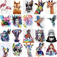 sdoyuno diy oil colorful animals painting by numbers with frame for adults acrylic paint kits pictures by numbers for bedroom
