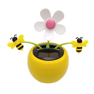 Cute Insects Honey Bee Solar Powered Dancing Dolls Toy Home Decor Kids Gift
