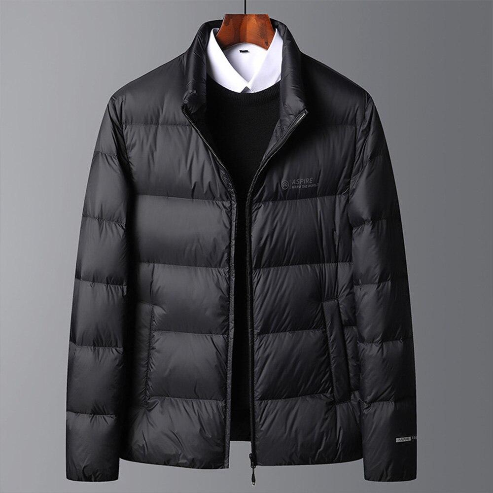 Мужская зимняя куртка, черная куртка, ветрозащитная ветровка, Мужская теплая свободная повседневная куртка с подкладкой, парка, мужское уте...