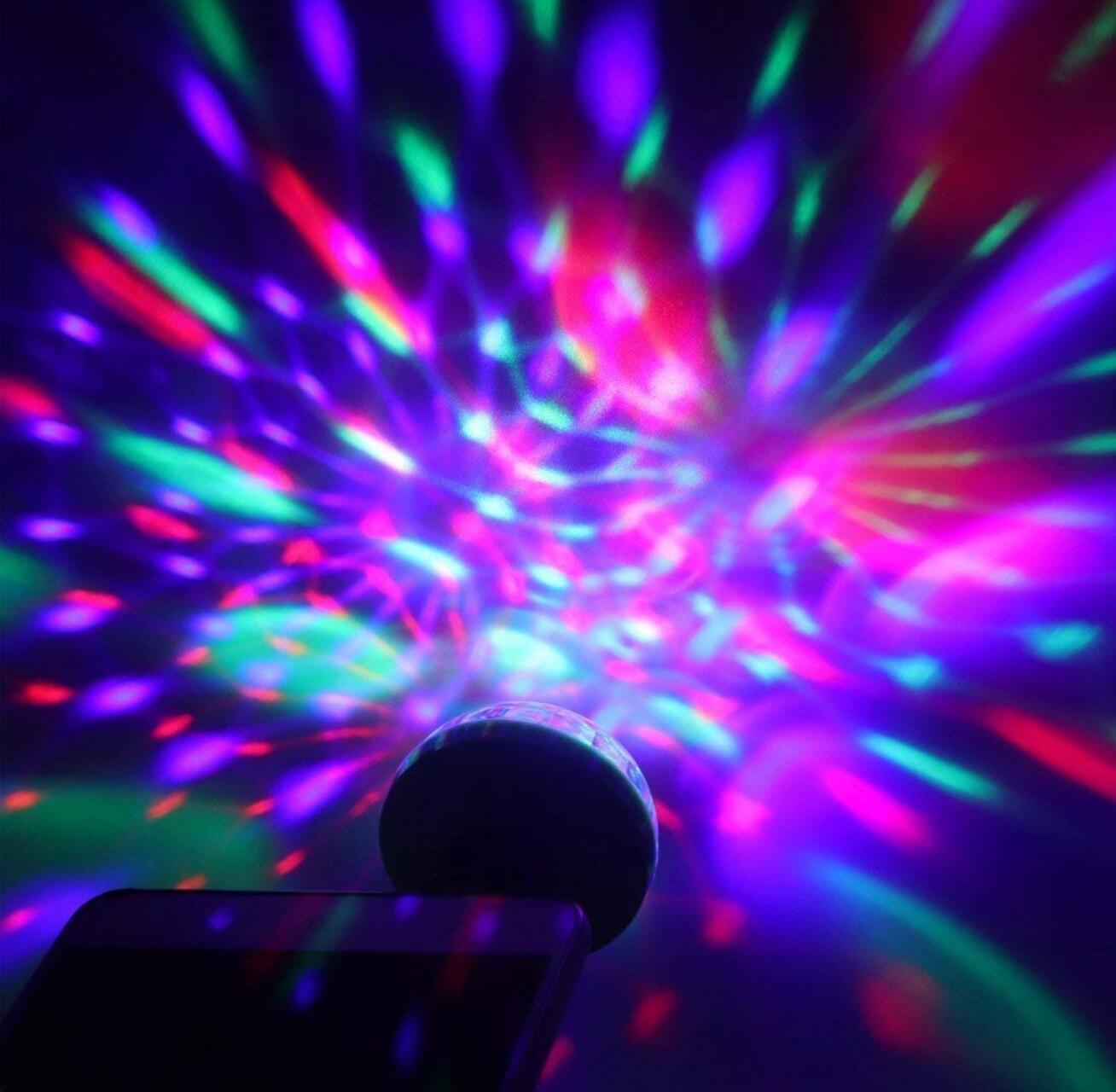 LED COCHE USB luz decorativa Mini DJ RGB colorida música sonido atmósfera lámpara para USB-C superficie del teléfono Festival Fiesta Karaoke