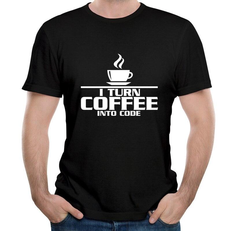 Camiseta moderna de estilo Simple para playa, Café en código, playera clásica,...