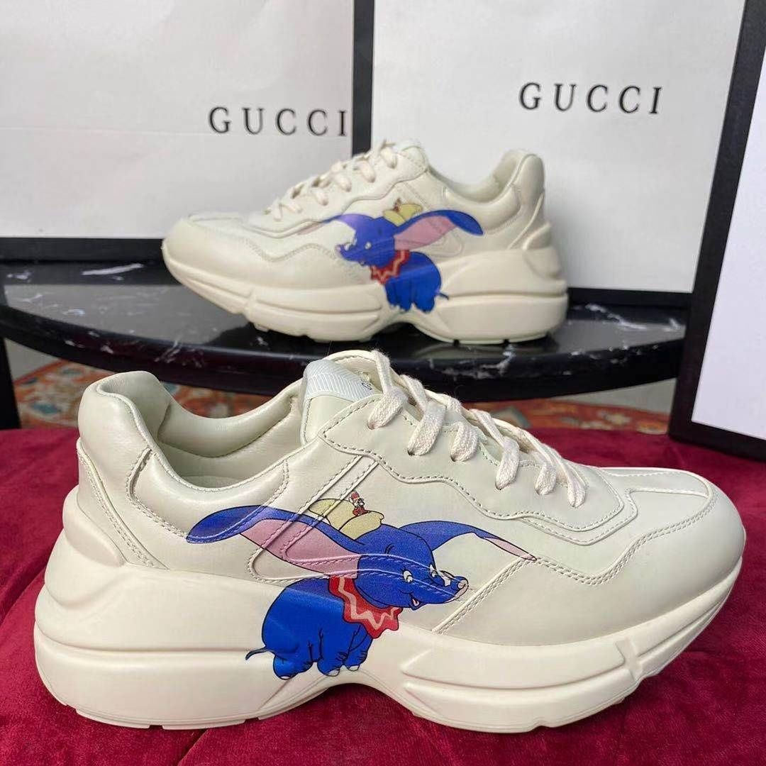 Disney Shoes Dumbo Mickey Mouse Donald Duck Daddy Shoes Men's and Women's Shoes Couple Sports Shoes enlarge