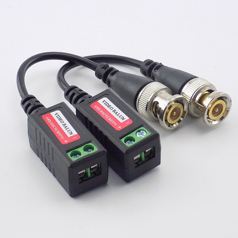 10Pairs BNC Camera Video Balun Connector Passive Transceiver 3000FT Distance UTP Balun CAT5 Cable for CCTV Accessories enlarge