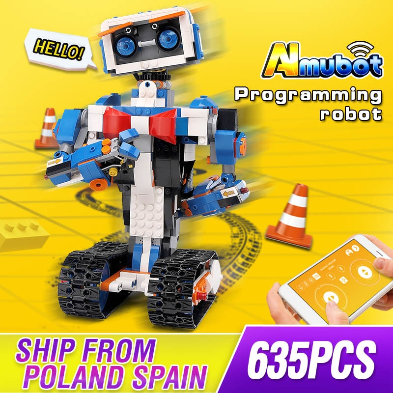 Mould King High-Tech 13063 Idea Intelligent Programming Robot Boost Building Set Creative Bricks Blocks Fit 17101 Kids Toys