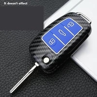carbon fiber car key fob case cover for audi a3 a4 a6 a8 a1 tt q3 q5 q7 rs6 s8 car accessories key fob cover