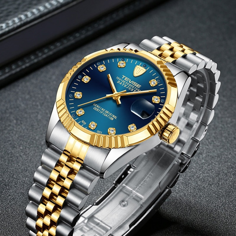 Diamond Dial Men Watch Top Brand Luxury Automatic mechanica Watch Men Fashion Military Waterproof Sp