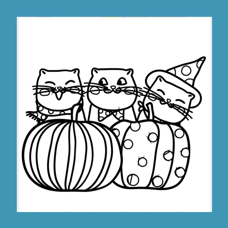 ZATWBS gato de Halloween sellos claros para DIY Scrapbooking/Creación de tarjetas/álbum decorativo sello artesanal de goma