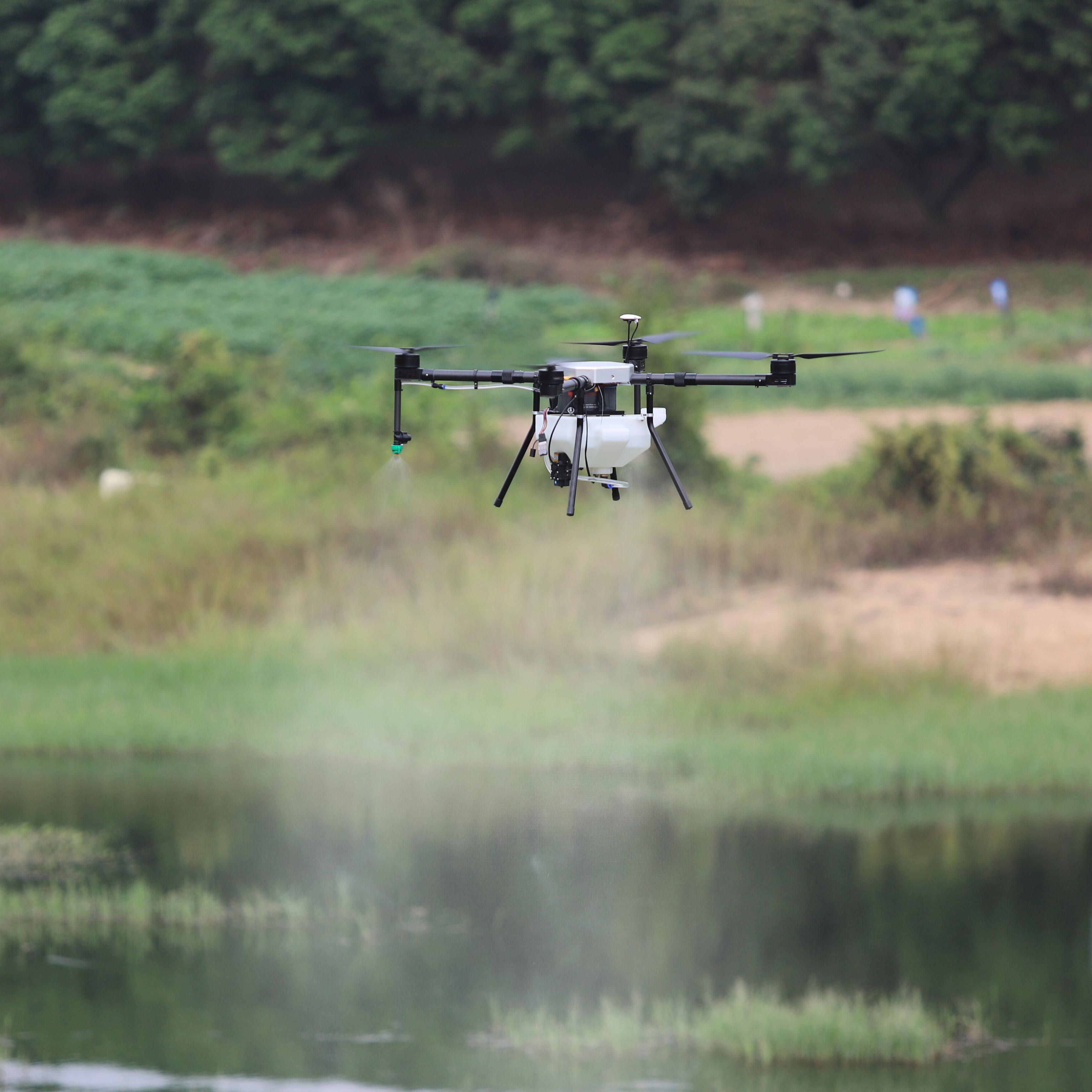Zangão da agricultura 5l 5 kg para o pulverizador, dron da colheita com gps pulverizando automaticamente com asa de dobramento, zangão do pulverizador do adubo