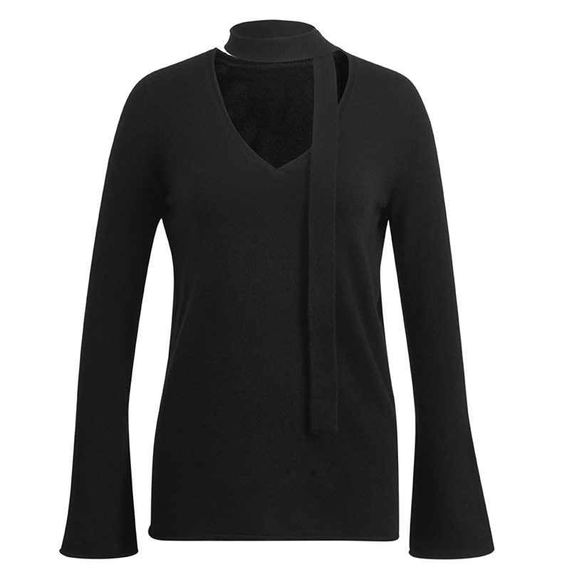 Tailor Shop Custom Made New Cashmere V-neck Pullover Wool Sweater Women Sweater enlarge