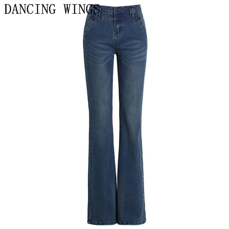 الخريف الشتاء عالية الخصر مضيئة السراويل النساء جينز غير رسمي حجم كبير تمتد نحيل السراويل الطويلة الإناث مثير الدنيم السراويل