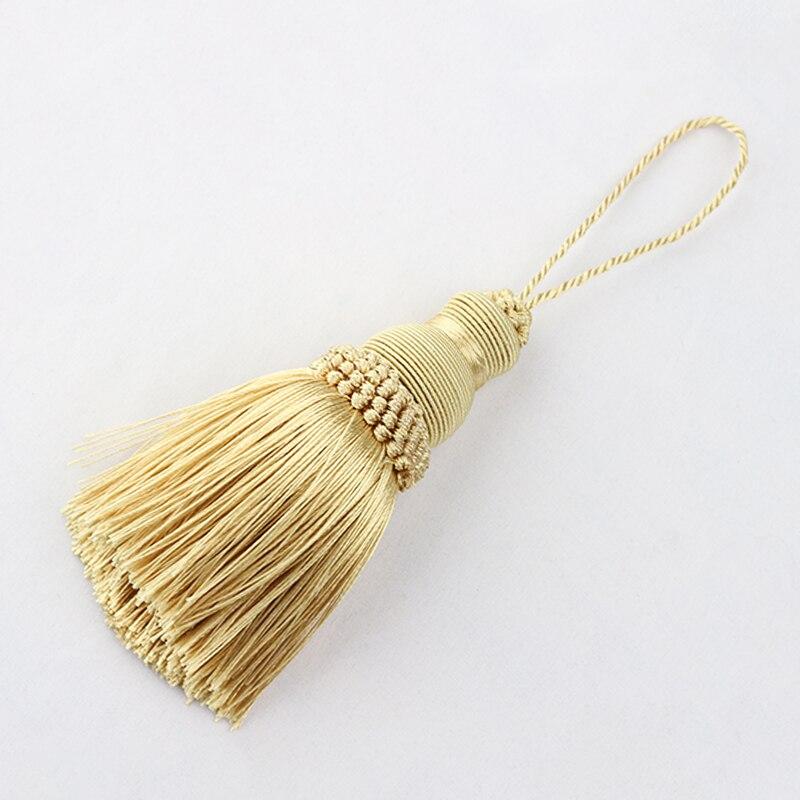 Borla, flecos, borlas de costura, adorno de flequillo, decoración para llaves, borlas para DIY, accesorios de cortina embellecedores, cuerda colgante 1 unidad