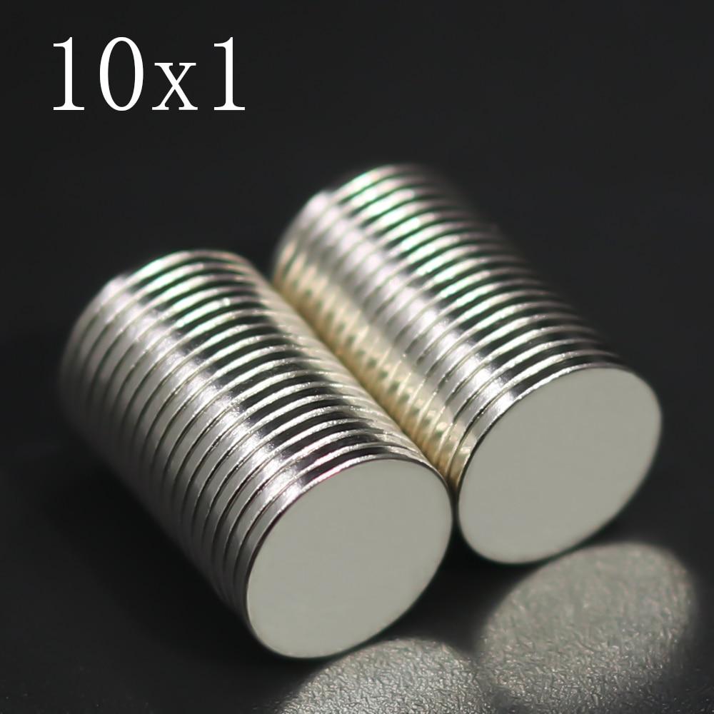 20/50/100/200/500 Pcs 10x1 Neodymium Magnet 10mm x 1mm N35 NdFeB Round Super Powerful Strong Permanent Magnetic imanes Disc 10x1