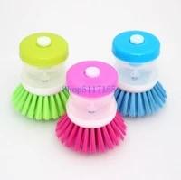 240pcslot fast shipping kitchen brushes easy dish washing up scrubbing cleaning brush liquid detergent brush