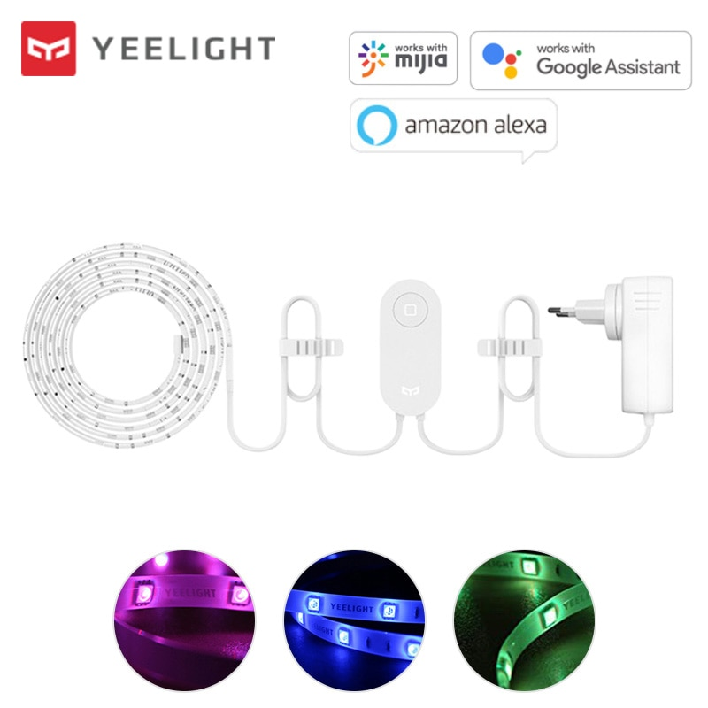 شريط إضاءة ذكي من Yeelight Aurora Plus YLDD04YL بطول 2 متر, LED ، RGB ، واي فاي ، ديكور منزلي ، مصباح ذكي يعمل مع أليكسا ومساعد جوجل Mi Home