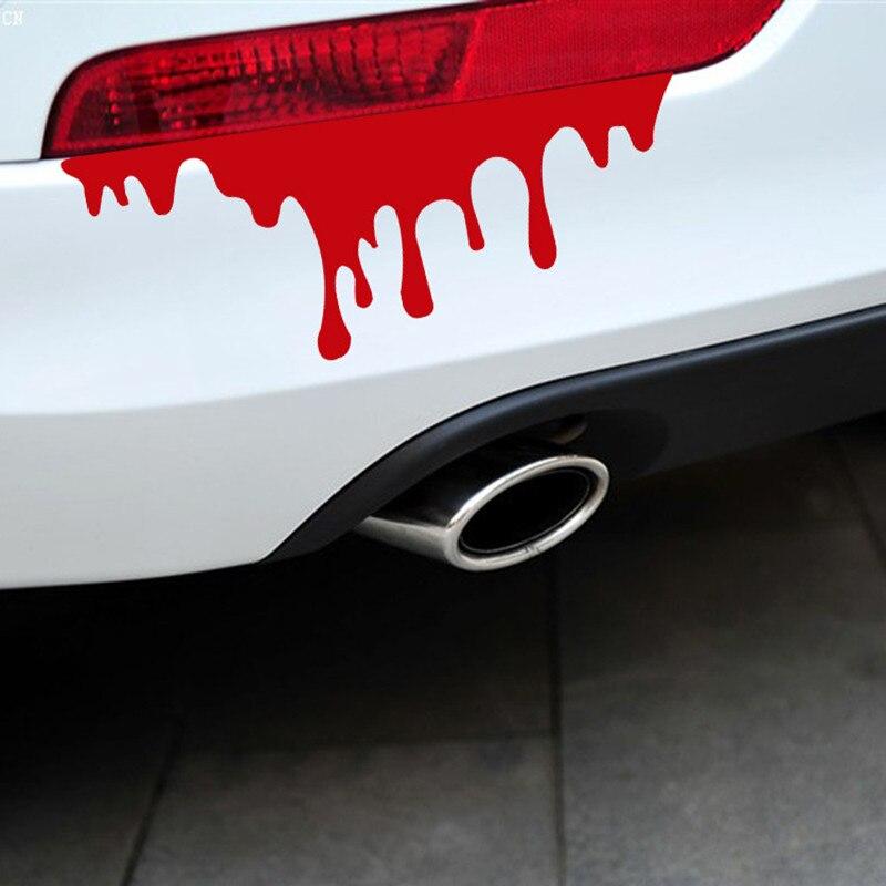 Naklejki samochodowe czerwona krew DIY pojazd ciało znaczek z symbolem samochód stylowe naklejki samochodów-obejmuje osobowość światła samochodowe akcesoria samochodowe