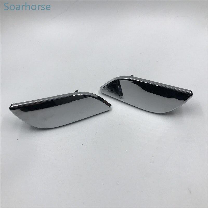 Soarhorse para Skoda Superb 2009-2013 Faro de parachoques frontal arandela tapa de boquilla de pulverización faro boquilla tapa