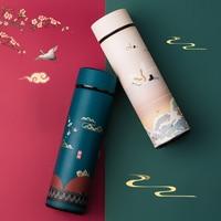 Интеллектуальный термос, кофейная бутылка в китайском классическом стиле, LED сенсорный дисплей, Термокружка Из Нержавеющей Стали, для чая, б...