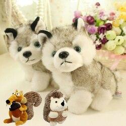 Husky cão esquilo ouriço recheado brinquedo de pelúcia o kawaii simulação husky cão brinquedo de pelúcia presente de aniversário do bebê crianças brinquedo de pelúcia