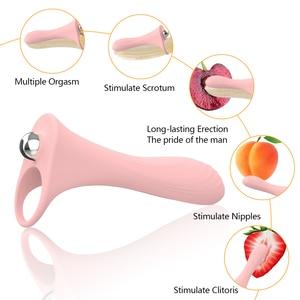 Strap On Double Penetration Penis Extender Vibrator Long-lasting Erection Delay Ejaculation G-Spot Stimulation Sex Toys For Men