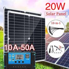 Solar Cells 20V Home Improvement Durable Solar Charging Equipment Solar Panel 350*350mm 20W Monocrystalline Silicon DIY Mini