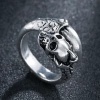 cool dragon claw skull ring for men boys punk rock stainless steel biker ring male gothic jewelry creativity gift wholesale