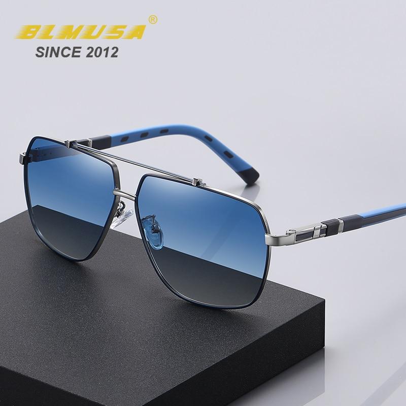 BLMUSA 2021 New Luxury Polarized Sunglasses Men Square Brand Designer Business Glasses Oversized Spr