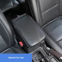 qhcp microfiber leather car central console armrest box cover arm rest protection case accessories for jeep wrangler jl2018 2021