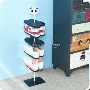 Six-layer cartoon animal three-dimensional children's shoe rack creative living room shoe rack