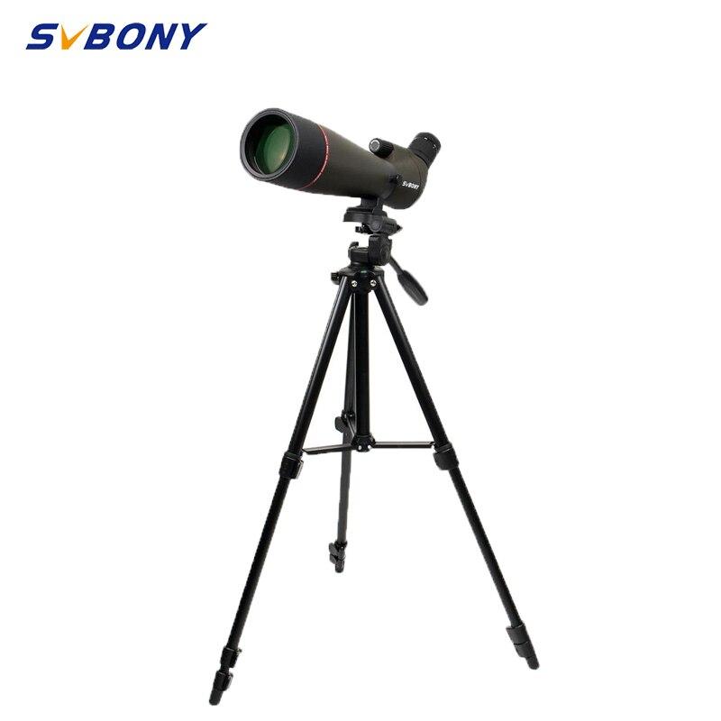 SVBONY SV13 الإكتشاف نطاق 20-60X80 مقاوم للماء التكبير تلسكوب الفضة + MC بريزم كامل متعدد المغلفة عدسة الهدف 49 بوصة ترايبود للصيد ، وإطلاق النار ، والرم...