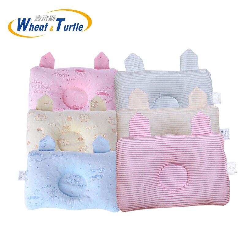 Almohadas rectangulares Antiapnea de algodón suave para cama de bebés, almohadas cóncavas adorables antimigrañas